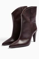 Topshop Womens Villa Vegan Burgundy Boots - Burgundy