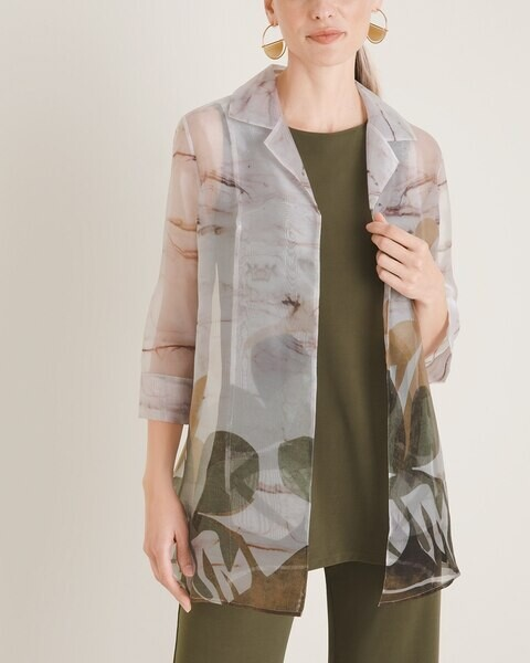 Travelers Collection Organza Back-Pleat Jacket