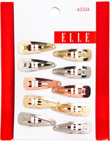 Elle Mixed Metal Snap Clips