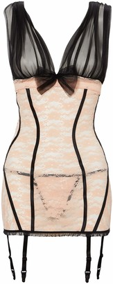 Shirley of Hollywood Women's Stretch Lace Teddy