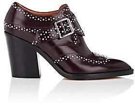 Derek Lam Women's Sidra Leather Ankle Booties - Bordeaux