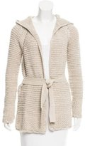 Calypso Hooded Open Knit Cardigan w/ Tags