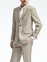 Banana Republic Slim Solid Linen Suit Jacket