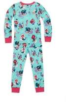 Hatley Toddler's, Little Girl's & Girl's Two-Piece Mermaid Pajama Set