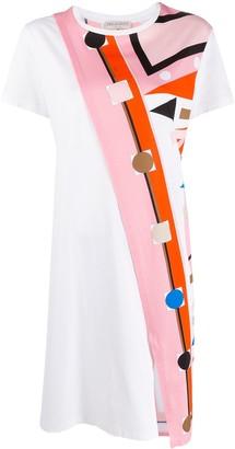 Emilio Pucci V-Vivara print T-shirt dress