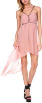 Stanzino Khaki Empire-Waist Hi-Low Dress