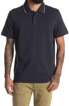 Perry Ellis Dot Print Short Sleeve Polo