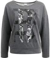 Deha LONG SLEEVE CROP Sweatshirt dark grey melange