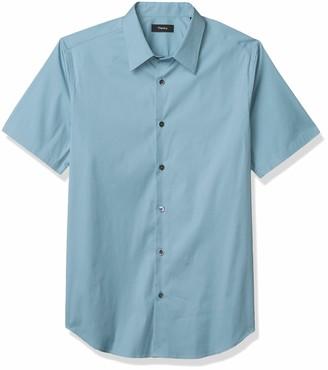 Theory Men's Sylvain Short Sleeve Stretch Button Down Shirt