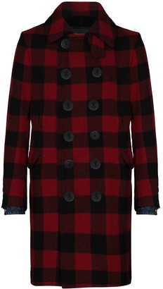 DSQUARED2 Double-Breasted Check Coat