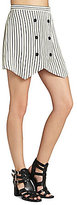 BCBGeneration Striped Button-Front Skirt
