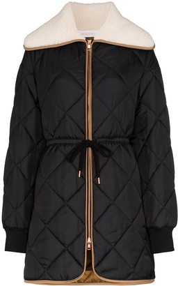 See by Chloe Faux Shearling Quilted Puffer Jacket