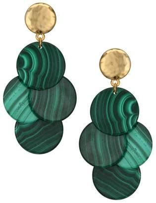 Nest Mini Malachite Chandelier Earrings