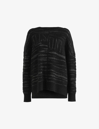 AllSaints Split Saints knitted jumper