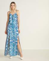 Hale Bob Printed Lace-Up Maxi Dress