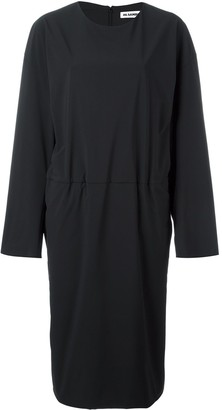 Jil Sander Tuck-Effect Long-Sleeve Dress