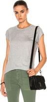 Nili Lotan Short Sleeve Baseball Tee in Gray.