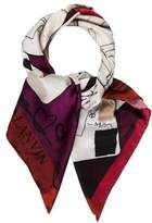 Lanvin Abstract Square Scarf