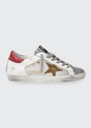 Golden Goose Superstar Glitter Net Low-Top Sneakers