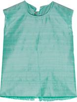 Marques Almeida Marques' Almeida Open-back frayed slub silk top