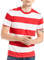 Levi's Sunset Pocket T-shirt Cloned, Cherry Bomb Heather/marshmallow
