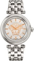 Versace Women's 'KHAI' Swiss Quartz Stainless Steel Casual Watch, Color:-Toned (Model: VQE110016)