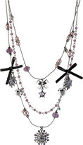 Betsey Johnson Star Multi Charm Necklace