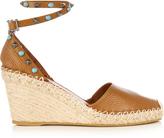 Valentino Rockstud espadrille wedge sandals