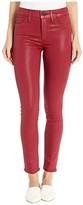 Hudson Jeans Nico Mid-Rise Super Skinny Ankle in Oxblood Wax (Oxblood Wax) Women's Jeans