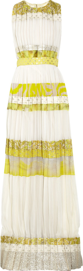 Giambattista Valli Patterned striped silk-blend gown