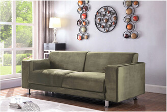 Chic Home Amarillo Taupe Velvet Sofa