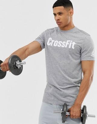 Reebok Crossfit logo t-shirt in gray