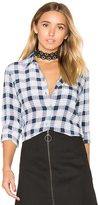 Equipment Brett Plaid Button Up in Blue. - size XS (also in )