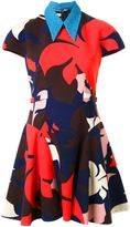 DELPOZO floral print flared dress - women - Cotton - 34