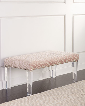 Pantone Massoud Bench with Acrylic Legs