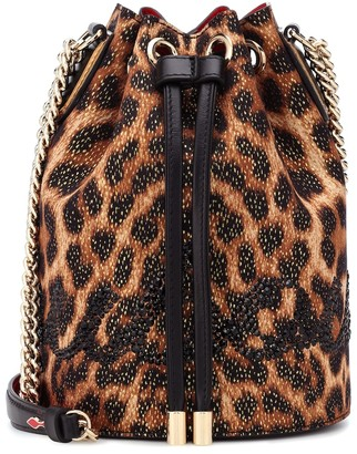 Christian Louboutin Marie Jane embellished bucket bag