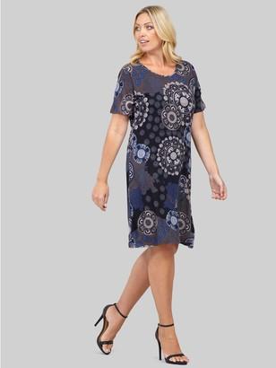 M&Co Izabel Curve mosaic print shift dress