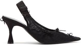 Balenciaga Lingerie Slingback Lace Pumps - Black