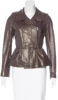 Peter Som Metallic Leather Jacket