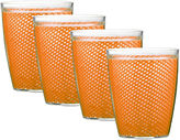 Kraftware Fishnet Set of 4 14-oz. Doublewall Glasses