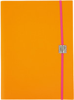 Undercover Recycled Leather Notebook Plain - Neon Orange - A4