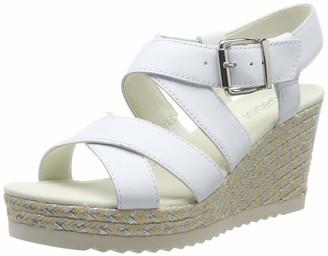 Gabor Shoes Basic Sandales Bride Cheville Femme Blanc (Weiss 21) 35 EU