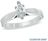 Zales Celebration Grand® 1/2 CT. Marquise Diamond Solitaire Engagement Ring in 14K White Gold (I-J/I1)