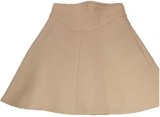 Carven Beige Wool Skirts