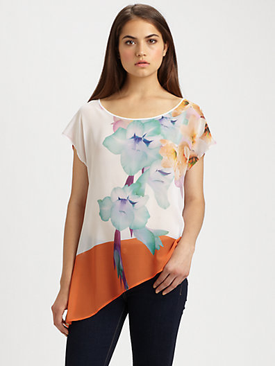 Clover Canyon Orchid-Print Top