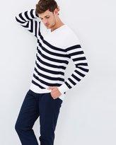 Tommy Hilfiger Jack Stripe V-Neck Knit