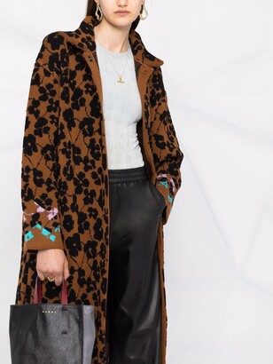 M Missoni Floral-Pattern Cardi-Coat