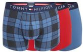 Tommy Hilfiger Pack Of Three Blue And Red Hipster Trunks