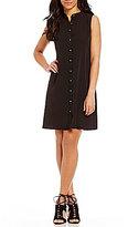Calvin Klein Button-Front Chiffon Shirt Dress