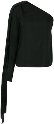 Saint Laurent Asymmetric Sleeve Blouse